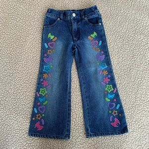 Lisa Frank painted jeans